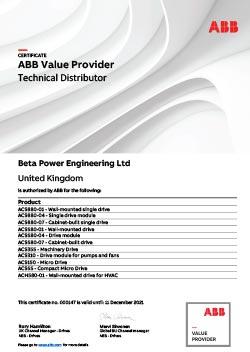 ABB Drives Certificate