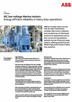 Marine Motors - Energy Efficient Reliability in Heavy Duty Operations