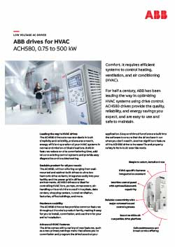 ACH580 Industry Specific Drive Flyer