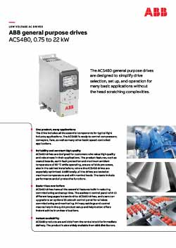 ACS480 General Purpose Drive Flyer