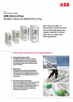 ACS55 Micro Drive Flyer